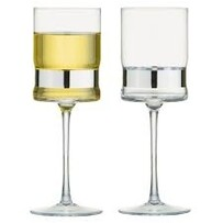 Anton Studio Soho Wine Glasses Silver S/2