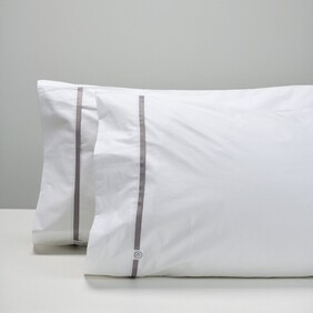 Thread Cotton Pillowcases - Smoke Tape Std Pr