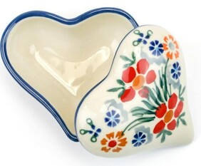 Boleslawiec Spring Bouquet Heart Trinket Box