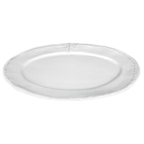 French Country White Dragonfly Oval Platter - Lge