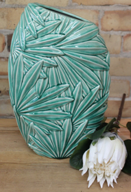 Banyan Multi Palm Leaf Vase 39cmH - Green