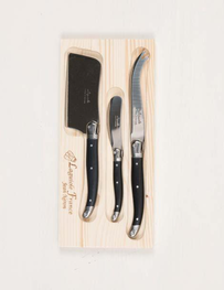 Laguiole Cheese Set - Black Set 3
