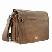 Troop Classic Flap Front Messenger Bag Brown Lge