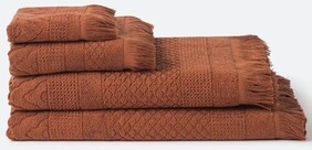 Citta Jacquard Towel Collection - Chestnut