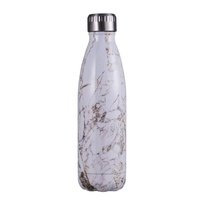 Avanti Fluid Bottle Marble Wht/Gld 500ml