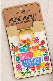 Natural Life Phone Pocket Ring Do What Happy