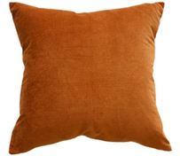 Furtex Majestic Velvet/Linen Cushion Nutmeg 50x50cm