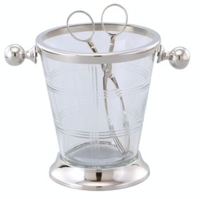 Oneworld Marquess Glass Ice Bucket & Tongs