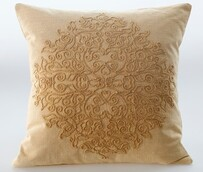 MM Linen Auro Cushion Ochre - 50x50