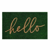 Madras Hello Doormat 45x75cm - Green