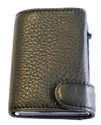 Tony Perotti Cervo Leather Smart Wallet Black