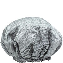 Simply Essential Crinkle Shower Cap - Silver