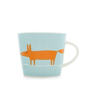 Keith Brymer Jones Mr Fox Mug - Orangw/Duckegg Blue