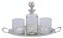 Oneworld Marquess Decanter & Glass Set with Tray