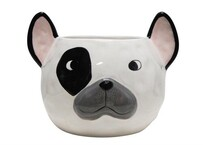 Stoneleigh & Roberson Frenchie Ceramic Planter 15x20cm