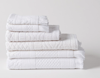 Citta Jacquard Towel Collection - White