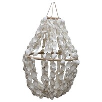 Le Forge Shell Chandelier 60cm - White