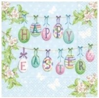 Paper Design Happy Easter Eggs Luncheon Napkins