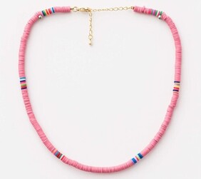 Stella & Gemma Clay Disc Necklace - Candyfloss
