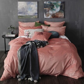 MM Linen Velvet Duvet Set - Cameo King