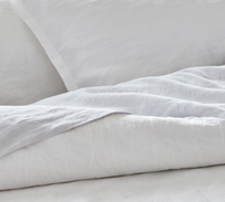 Baksana Linen Pillowcase - White Oxford