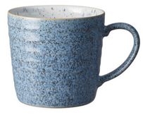 Denby Studio Blue Ridged Mug Blue