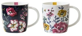 Joules Cambridge Floral Mug Set - Set of 2