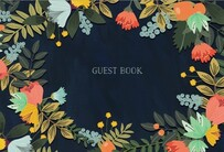 Book Modern Floral Edition Guest Book
