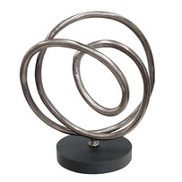 Le Forge Aluminium Tangle Sculpture - Smoke Black