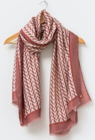 Stella & Gemma Rose winter Chevron Scarf