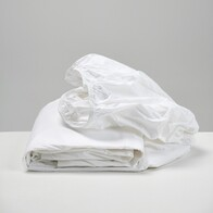 Thread Cotton Fitted Sheet White King