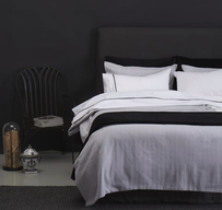 Seneca Herringbone Duvet Set - Pale Grey