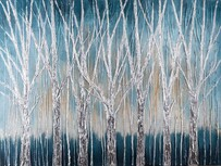 Kerridge Woody Blue Scene No2 Canvas  90x120cm
