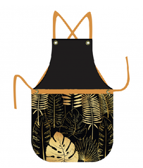 Linens & More Botanical Apron - Gold 70x90cm