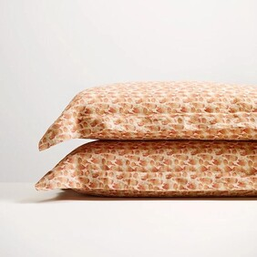 Thread Linen P'cases - Brick Flutter Oxford