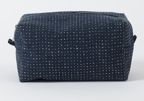 Citta Inku Wash Bag - Midnight/Natural Large 23x14.5x13cmH