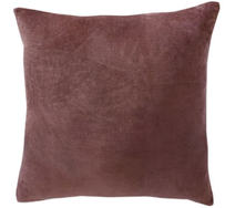 Furtex Majestic Velvet/Linen Cushion Marsala 50x50cm