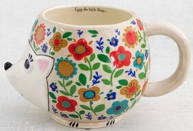Natural Life Floral Hedgehog Folk Mug