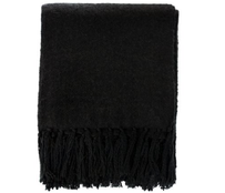 Furtex Rhapsody Acrylic Throw Black - 130x150cm