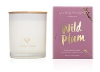 Living Light Wild Plum Soy Candle Large 65hrs