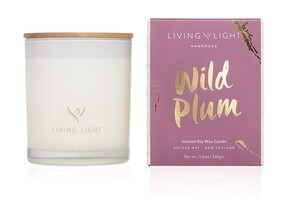 Living Light Wild Plum Soy Candle - Large 65hrs