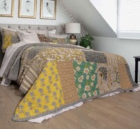 Macey & Moore Cecilia Handmade Quilt Set - Patchwork King/Queen 240x270cm