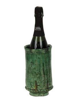 Moroccan Vase/Wine Cooler 22cm - Green