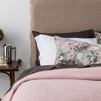 Seneca Cassis Pillowcase - Blush Euro