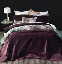 MM Linen Florentina Bedspread Set - Port