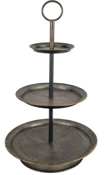 French Country 3 Tier Iron Cake Stand