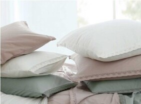 MM Linen Lacey Pillowcover Set - Rose