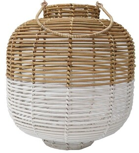 Le Forge Rattan Lantern - Natural/White Large