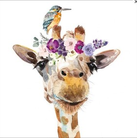 Image Gallery Pretty Giraffe Napkins - Lucheon