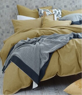 MM Linen Stitch Duvet Set - Ochre